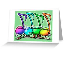 Music Notes Party Greeting Card