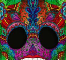 Colourful Sugar Skull Sticker
