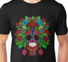 Colourful Sugar Skull Unisex T-Shirt