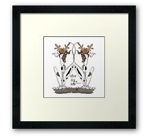 Alibar Dog Knits Framed Print