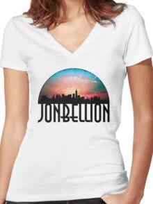 New York Soul Women's Fitted V-Neck T-Shirt