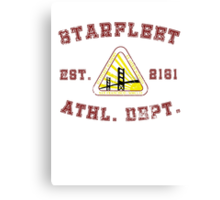 Star Fleet Academy Athletics Department  Canvas Print