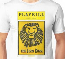 The Lion King Playbill Unisex T-Shirt