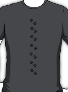 Dog Paws, Traces, Paw-prints - White Black T-Shirt