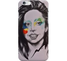 Lady Gaga portrait iPhone Case/Skin