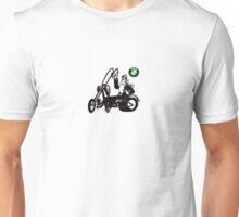 Lone Biker on Chopper Unisex T-Shirt