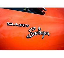 Classic Dodge Dart Swinger emblem Photographic Print