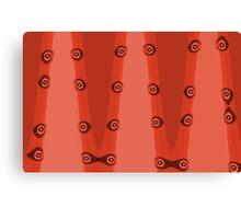 Orange Abstract Stripe, Brown Eyes Canvas Print