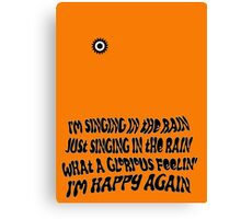 Singing Clockwork Canvas Print