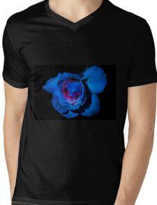 Blue Rose Mens V-Neck T-Shirt