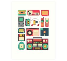 Retro Technology Art Print