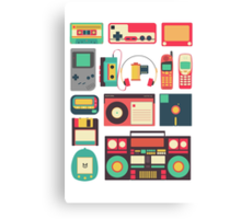 Retro Technology Canvas Print