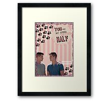 My Teenwolfed Valentine [You Are My Better Half] Framed Print