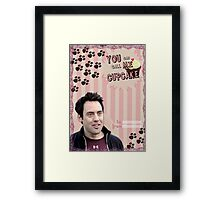My Teenwolfed Valentine [You Can Call Me Cupcake] Framed Print