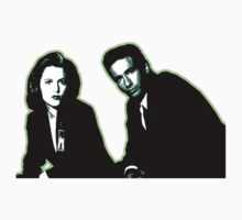 Awesome Dana Scully Fox Mulder - Stencil - THE X FILES - Street art Graffiti Popart Andy warhol One Piece - Short Sleeve