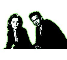 Awesome Dana Scully Fox Mulder - Stencil - THE X FILES - Street art Graffiti Popart Andy warhol Photographic Print