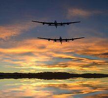 Sunset Lancasters by J Biggadike