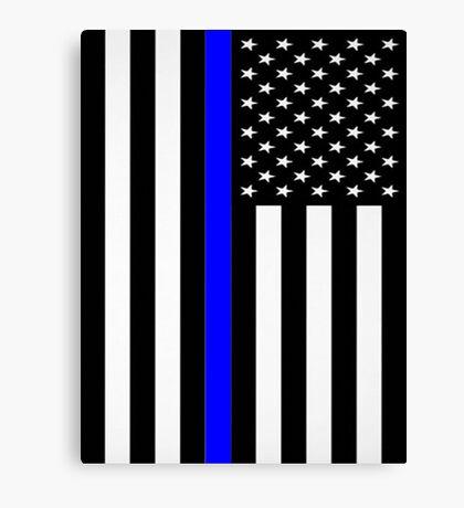 Police Flag Canvas Print