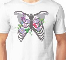 Rib Cage and flowers Unisex T-Shirt
