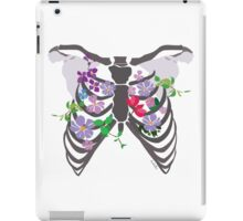 Rib Cage and flowers iPad Case/Skin