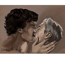 johnlock kiss Photographic Print