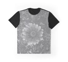 Fire Flower Sketch Graphic T-Shirt