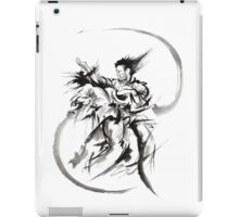 Aikido Martial Arts Large Poster Samurai Warrior Black and White iPad Case/Skin