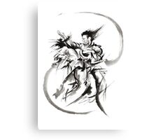 Aikido Martial Arts Large Poster Samurai Warrior Black and White Canvas Print