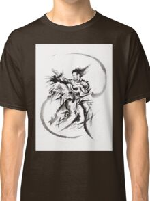 Aikido Martial Arts Large Poster Samurai Warrior Black and White Classic T-Shirt
