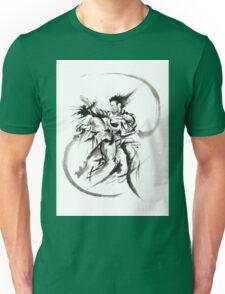 Aikido Martial Arts Large Poster Samurai Warrior Black and White Unisex T-Shirt
