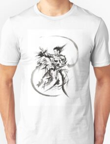 Aikido Martial Arts Large Poster Samurai Warrior Black and White T-Shirt