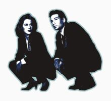 Awesome Dana Scully Fox Mulder - Stencil - THE X FILES - Street art Graffiti Popart Andy warhol Baby Tee