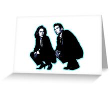 Awesome Dana Scully Fox Mulder - Stencil - THE X FILES - Street art Graffiti Popart Andy warhol Greeting Card