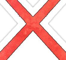 Field Hockey Red Sticker