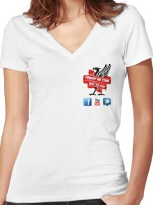 Fenway We Come Not To Pay Women's Fitted V-Neck T-Shirt