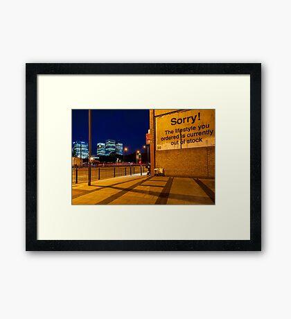 Attribution - London Lights Framed Print