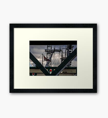 A View of The Eye - London Lights Framed Print
