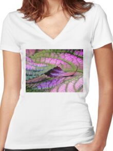 Curlicue Women's Fitted V-Neck T-Shirt