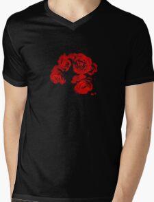 Blood-Red Roses Mens V-Neck T-Shirt