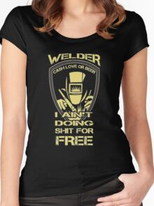 Welder Tshirt - LIMITED TIME ONLY Women's Fitted Scoop T-Shirt