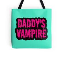 Daddy's Vampire Dripping Letters Tote Bag