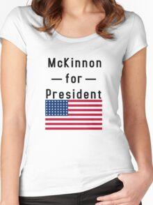 McKinnon for President Women's Fitted Scoop T-Shirt