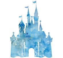 Watercolor Castle Photographic Print