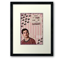 My Teenwolfed Valentine[I Would Let You Lock Me] Framed Print