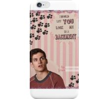 My Teenwolfed Valentine[I Would Let You Lock Me] iPhone Case/Skin
