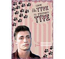 My Teenwolfed Valentine[I know I'm Your Type] Photographic Print