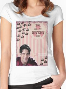 My Teenwolfed Valentine[You Are The Hottest Girl] Women's Fitted Scoop T-Shirt