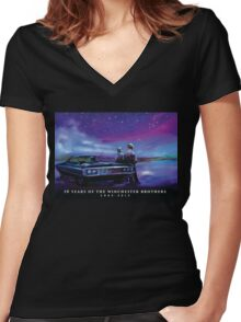 Impala Nights Women's Fitted V-Neck T-Shirt