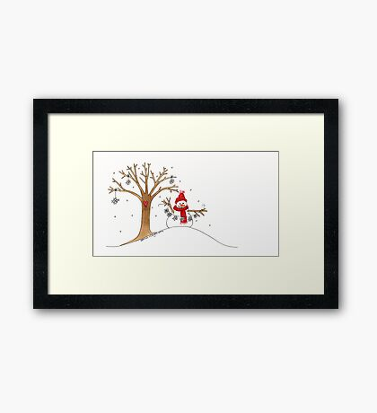 Snow Time For Gathering Snowflakes Like Christmas Framed Print