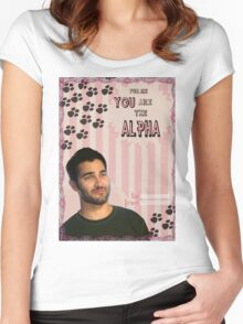 My Teenwolfed Valentine[You Are The Alpha] Women's Fitted Scoop T-Shirt